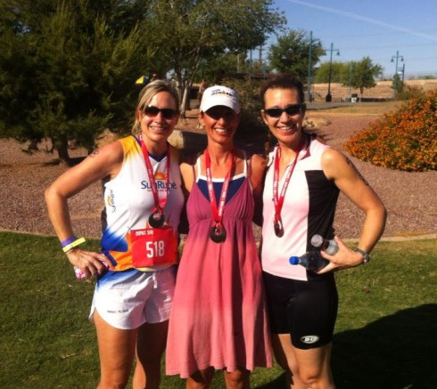 Team Savannah Sendoff at the Esprit de She Tri (my last AZ race)